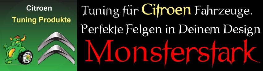 Citroen Tuning Shop - Design von Nabendeckeln und Radkappen der Felgen + Logo Embleme für Berlingo, C-Zero, C1, C2, C3, C4, C5, DS3, DS4, DS5, DS9 und der Citroen Xsara sowie der AX, BX, C-Crosser, C6, C8, CX, Evasion, Nemo, Saxo, Xantia, XM und der Citroen ZX