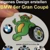 4 Nabendeckel - Dein Design - für BMW 6er Gran Coupé