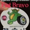 Felgen Tuning für den Fiat Bravo - 4 Nabendeckel (Felge) in Deinem Design (Motiv+Text)
