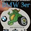 Designe Deine Felgen für den BMW 3er selber mit selbst erstelltem Motiv und Text für die Radkappen