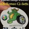 Felgen Tuning für Alfa Romeo Giulietta - Design der Nabendeckel (Radkappen der Felge)