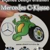 Mercedes C-Klasse Tuning: Radnaben Kappen (1x pro Felge=4 Stück) im eigenen Design erstellen
